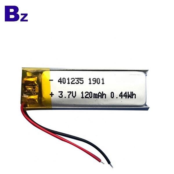 401235 120mAh 3.7V Lipo Battery