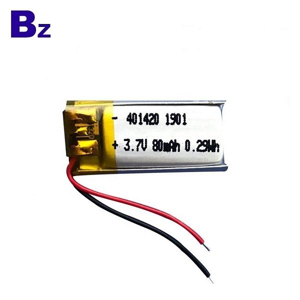 401420 80mAh 3.7v Lipo Battery