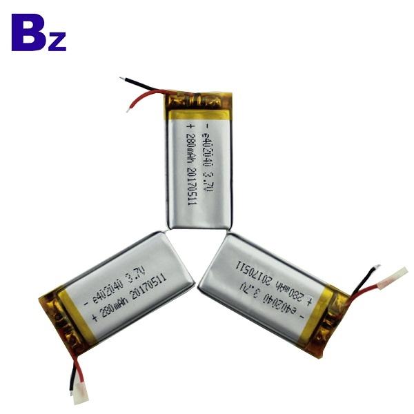 280mah 3.7V Lipo Battery