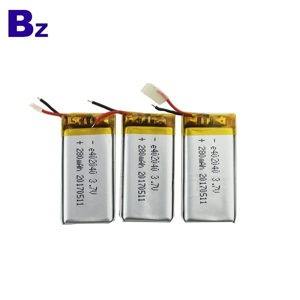 402040 280mah 3.7V Lipo Battery