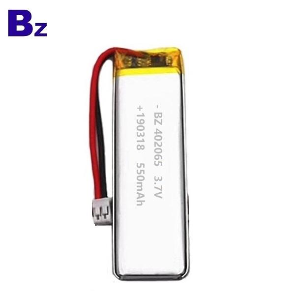 550mAh Li-polymer Battery for Air Cleaner