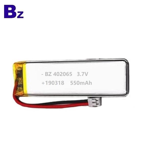 402065 550mAh 3.7V Lipo battery