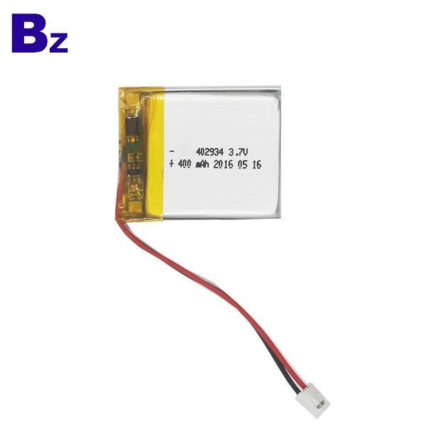 402934 400mAh 3.7V Li-Polymer Battery