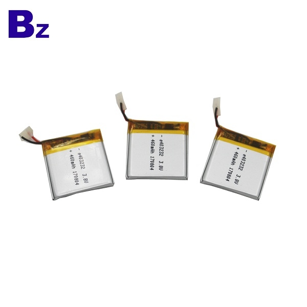 403232 460mah 3.8V Rechargeable Li-Polymer Battery
