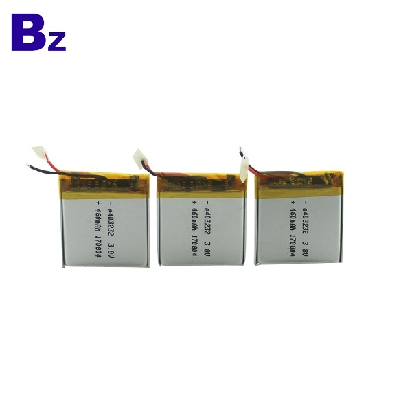 460mah 3.8V Rechargeable Li-Polymer Battery