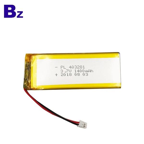 1400mAh Rechargeable Li-Polymer Battery