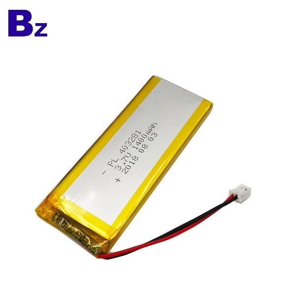 3.7V 1400mAh Rechargeable Li-Polymer Battery