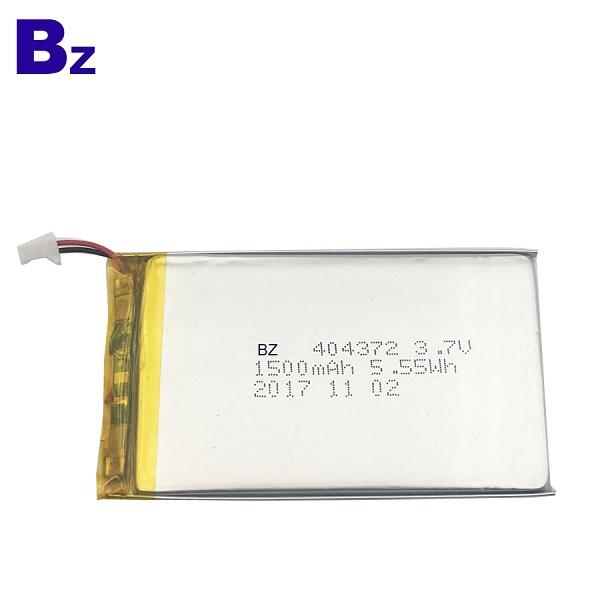 404372 1500mAh 3.7V Rechargeable Li-Polymer Battery
