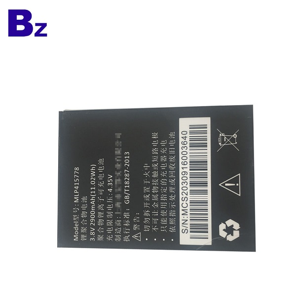 415778 2900mah 3.8V Rechargeable Li-Ion Battery For Mobile Phone
