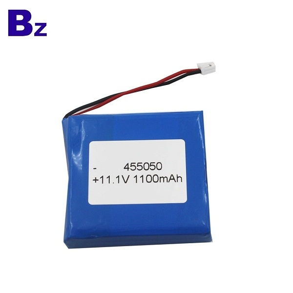 Customized Rechargeable Lipo Battery BZ 455050 3S 11.1V 1100mAh Polymer Li-ion Battery