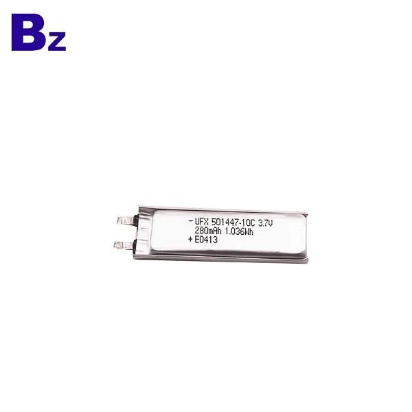 501447 10C 3.7v 280mAh Lipo Battery