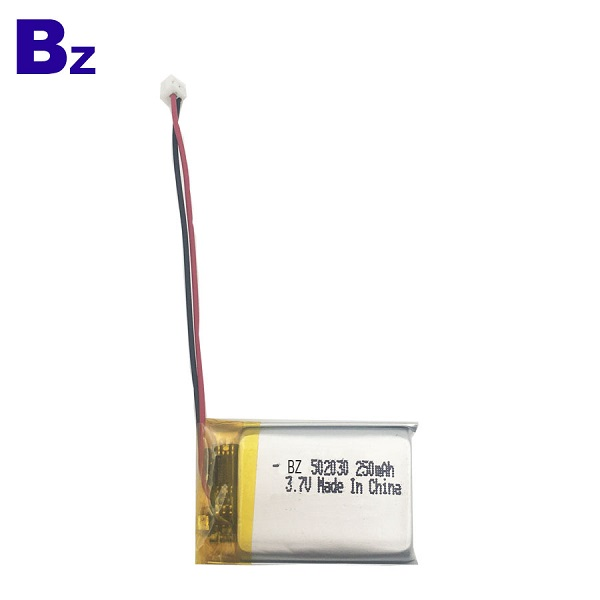502030 250mAh 3.7V Rechargeable Li-Polymer Battery