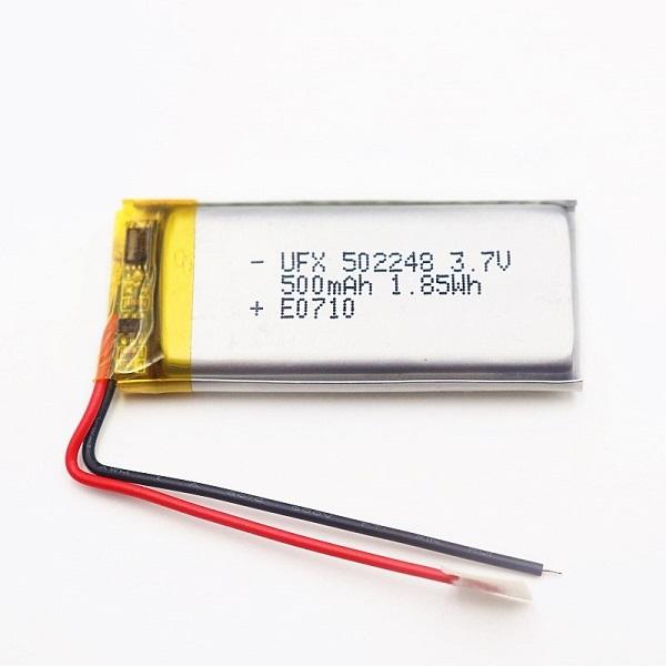 500mAh 3.7V Lithium Battery