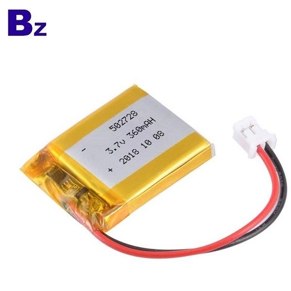 502728 360mAh 3.7V Lipo Battery