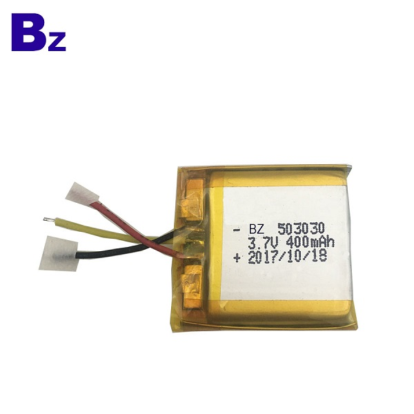 503030 400mAh 3.7V Li-Polymer Battery