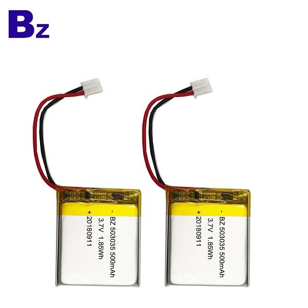 500mAh 3.7V KC Certification Li-polymer Battery