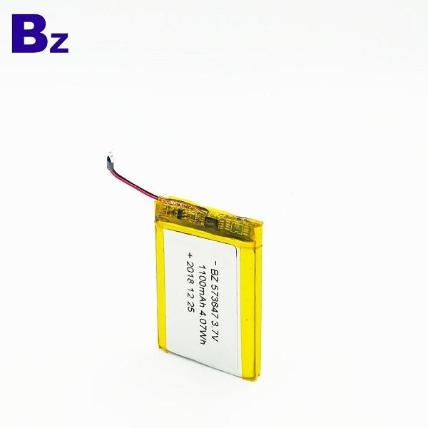573647 1100mAh 3.7V Li-ion Battery