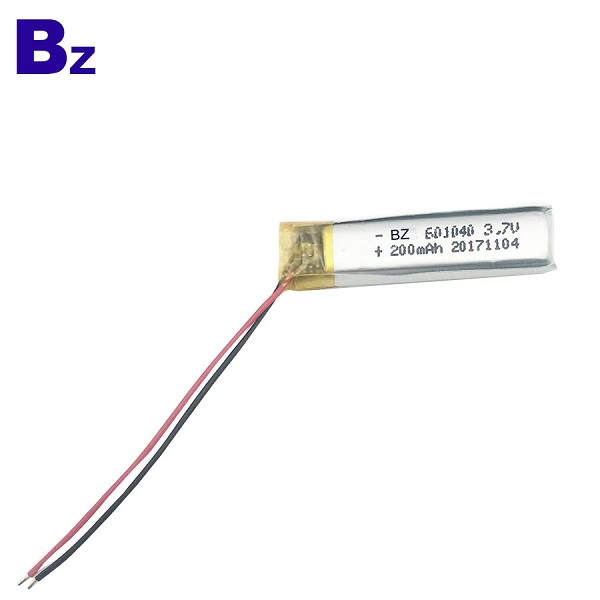 601040 3.7V 200mAh Lithium-ion Polymer Digital Battery