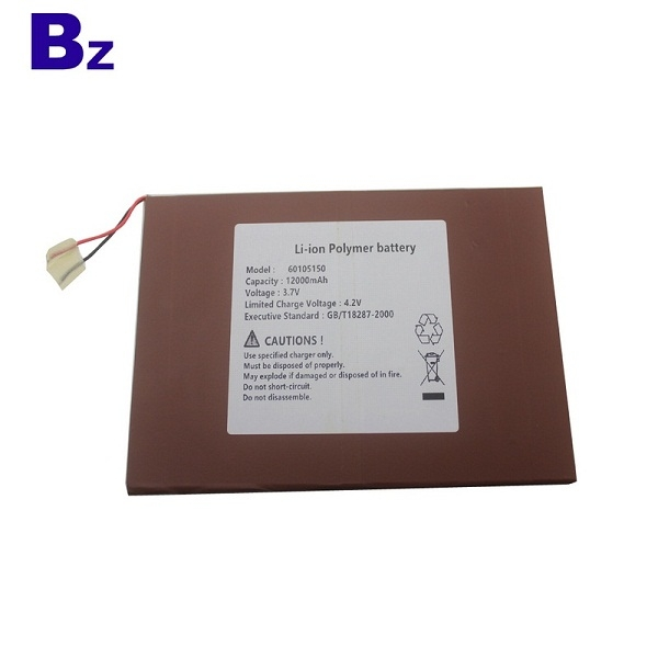 60105150 12000mah 3.7V For Consumer Electronics Products Lipo Battery