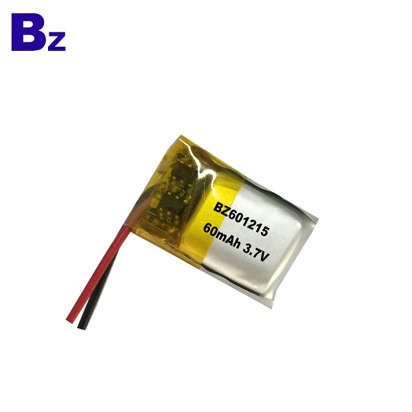 601215 60mAh 3.7V LiPo Battery