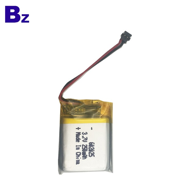 602025 250mAh 3.7V Rechargeable Li-Polymer Battery