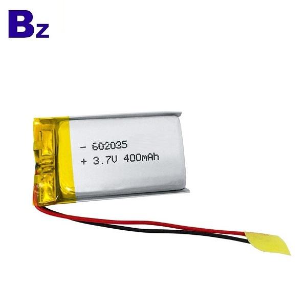 400mAh 3.7V Li-ion Battery