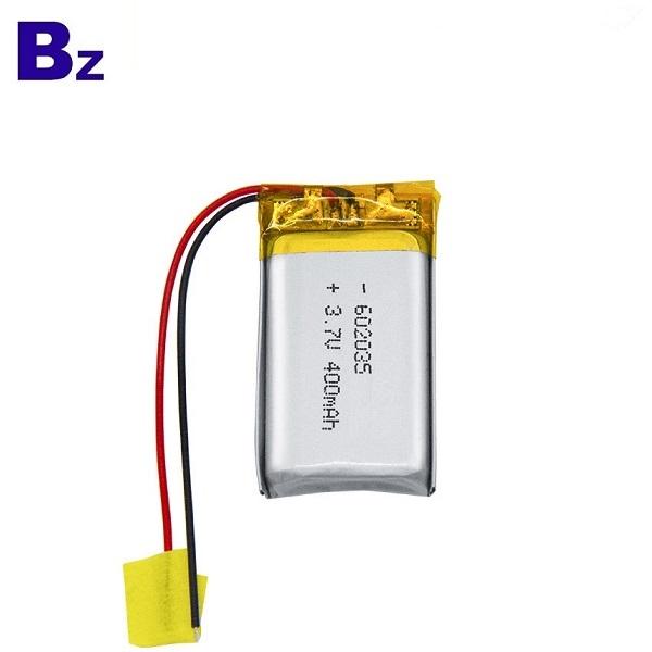 602035 400mAh 3.7V Li-ion Battery