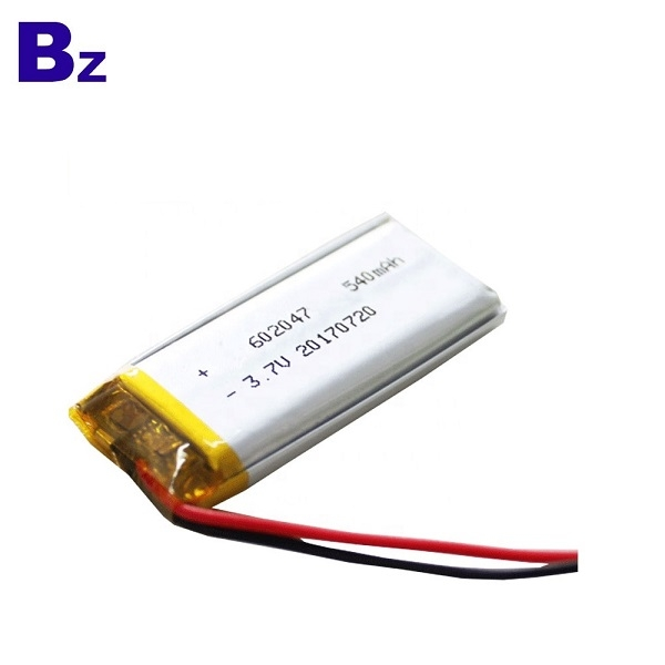 3.7V 540mAh Li-ion Battery