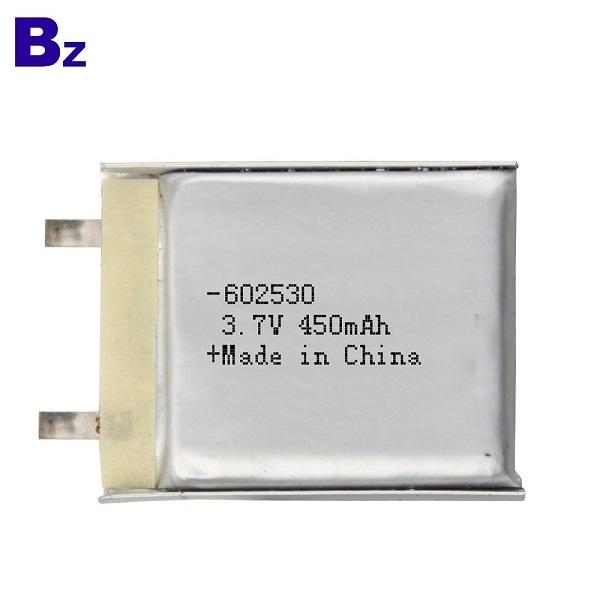 602530 450mAh 3.7V Li-ion Battery cell