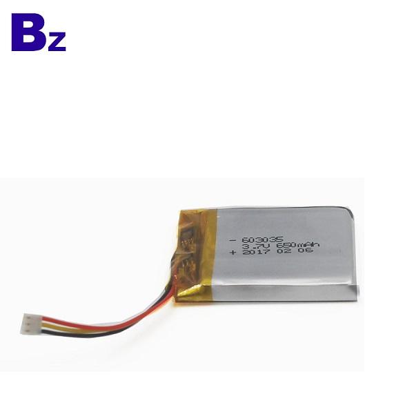 603035 650mAh 3.7V Li-Polymer Battery