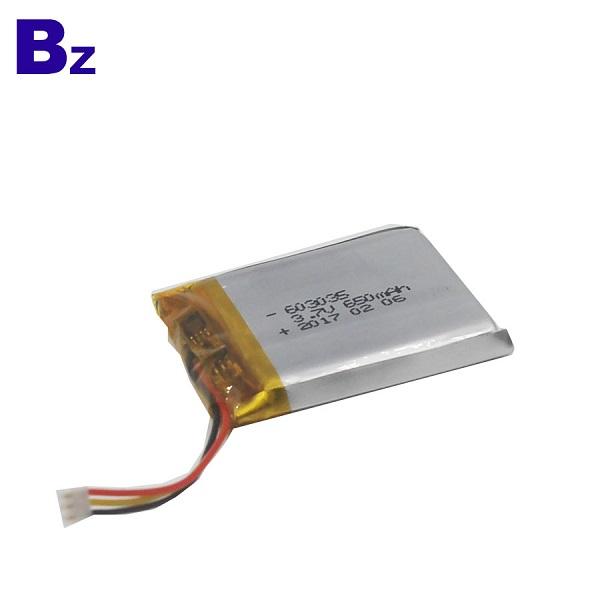 650mAh Li-Polymer Battery