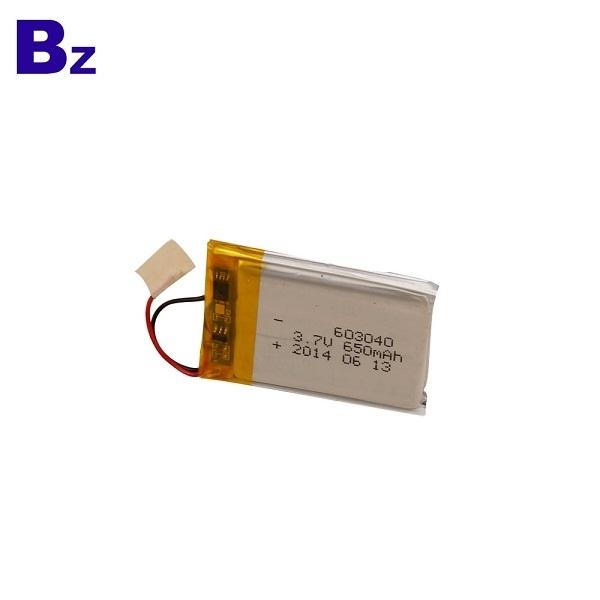 650mAh 3.7V Lipo Battery