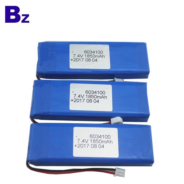 6034100 2S 1850mAh 7.4V Rechargeable LiPo Battery Pack