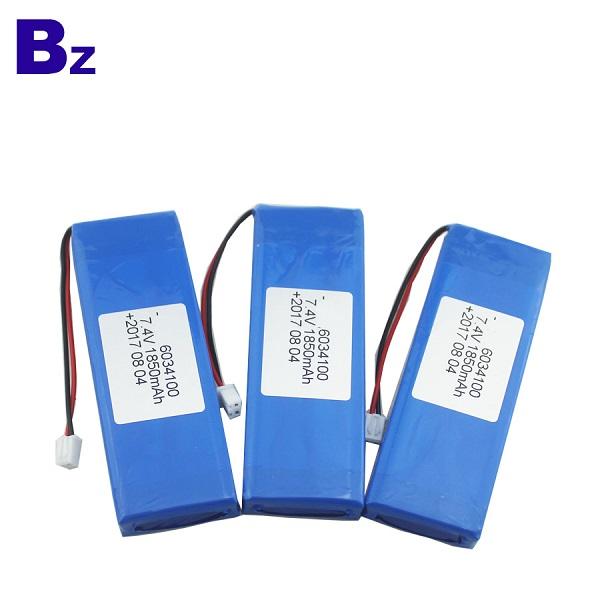 1850mAh 7.4V Rechargeable LiPo Battery Pack
