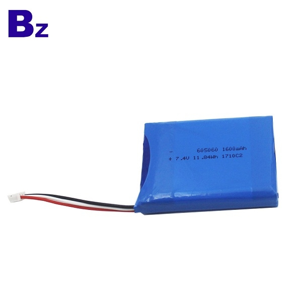 605060 7.4V 1600mAh Polymer Li-ion Battery