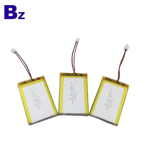 634165 2000mah 3.7V Lipo Battery