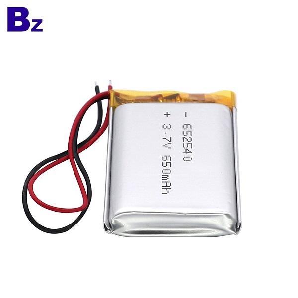 652540 650mAh 3.7V Lipo Battery