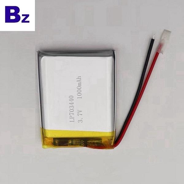 703440 1000mAh 3.7V Lipo Battery