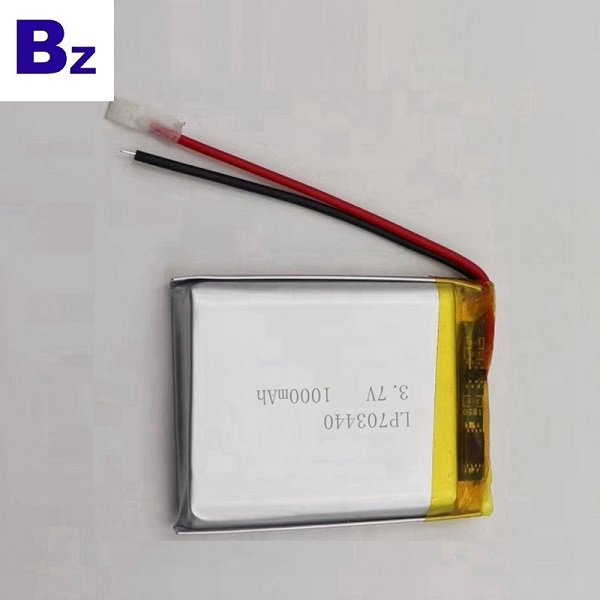 1000mAh Lithium Battery for Car DVR Devices