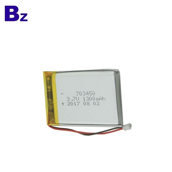 703450 1300mAh 3.7V Rechargeable LiPo Battery