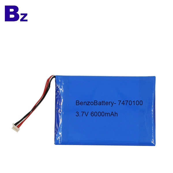 6000mah 3.7V Lipo Battery For Medical Products