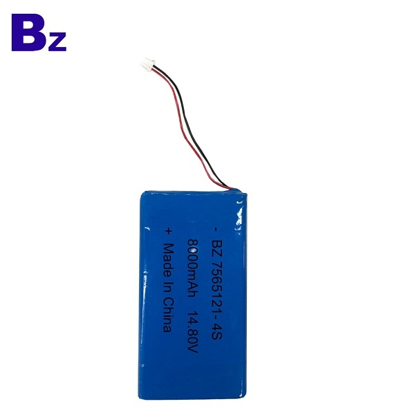 Rechargeable Polymer Li-ion Battery BZ 7565121-4S 14.8V 8000mAh Lipo Battery Pack