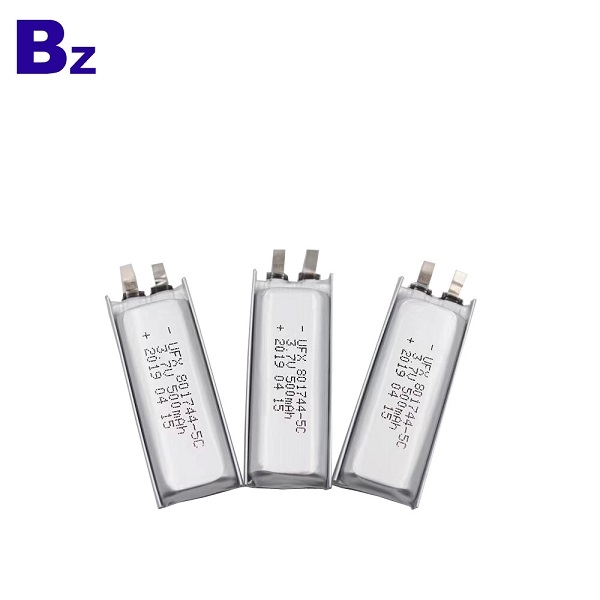 Rechargeable Battery For E-cigarette charging box BZ 801744 5C 3.7v 500mAh Lithium Battery