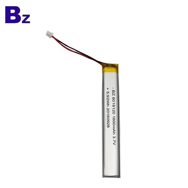 ODM 1600mAh 3.7V Lipo Battery