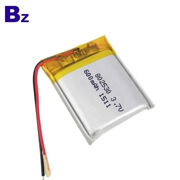 802530 600mAh 3.7V Lipo Battery