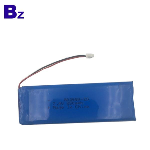 802680 2S 850mah 7.4V Rechargeable LiPo Battery Pack