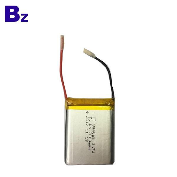 804055 7.4V 2000mAh LiPo Battery