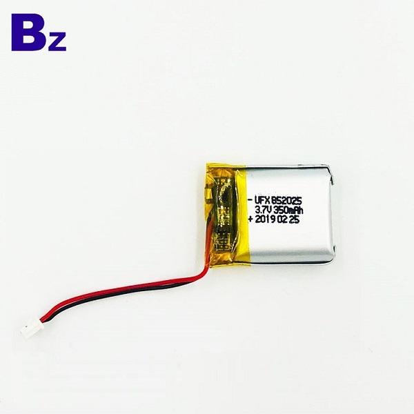 852025 350mAh 3.7v Li-ion Battery