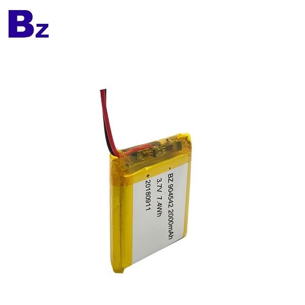 ODM 2000mAh 3.7V Lipo Battery