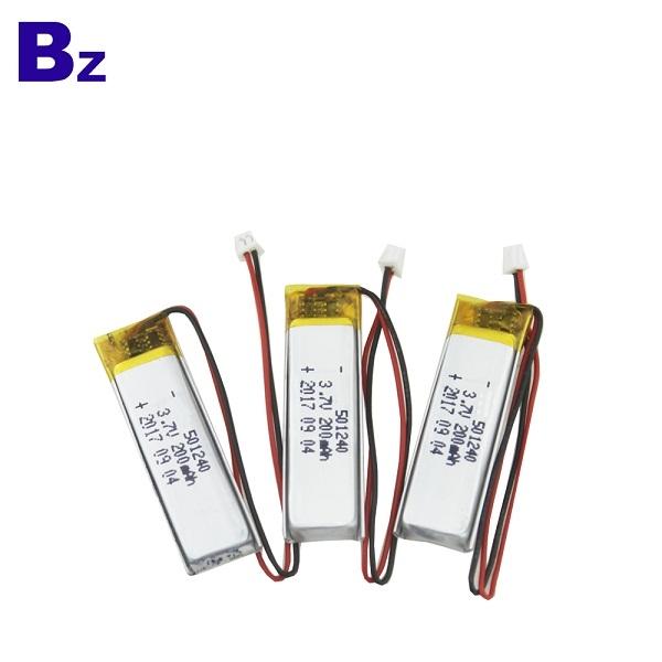 501240 200mAh 3.7V Rechargeable Li-Polymer Battery
